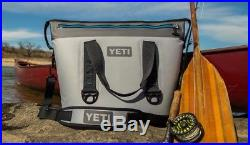 2017 New In Box Yeti Hopper Two 30 Soft Cooler Fog Gray/tahoe Blue