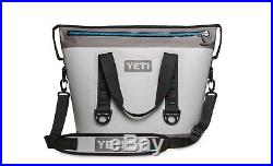 2017 New In Box Yeti Hopper Two 30 Soft Cooler Fog Gray/tahoe Blue