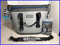2018 Yeti Hopper Two 30 Gray / Blue NEW WITH TAGS soft zipper Cooler