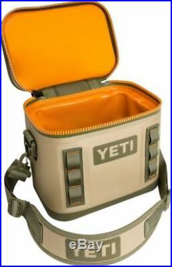 Authentic YETI Hopper Flip 8 Soft Cooler Field Tan/Blaze Orange FREE SHIPPING