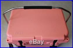 Authentic YETI Roadie 20 Coral Cooler RARE Limited Edition Color