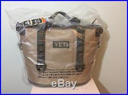 Authentic Yeti Hopper 30 Cooler Tan Blaze Orange 100% Leakproof Tough NEW