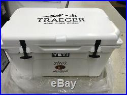 BRAND NEW Titos Vodka. Limited Edition YETI Tundra 45 Qt Cooler WHITE Traeger
