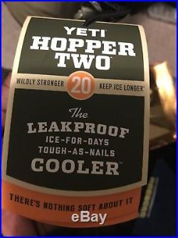 BRAND NEW! YETI Hopper TWO 20 Soft Side Cooler Field Tan/Blaze Orange