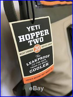 BRAND NEW YETI Hopper TWO 20 Soft Side Cooler Field Tan Blaze Orange NICE
