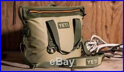 BRAND NEW YETI Hopper TWO 30 Soft Side Cooler Field Tan/Blaze Orange AUTHENTIC