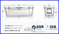 BRAND NEW YETI Tundra 350 High Capacity 79 Gallon Hard Cooler White FREE SHIP