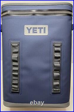 BRAND NEW! Yeti Hopper BackFlip 24 Soft Sided Backpack Cooler Navy FREE SHIP