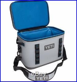 Brand New YETI Hopper Flip 18 Soft Cooler Fog Gray Tahoe Blue Waterproof