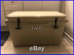 Brand New Yeti Coolers Tundra 45 Cooler Tan
