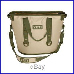 Brand New Yeti Hopper 40 Soft Side Portable Cooler Field Tan / Blaze Orange