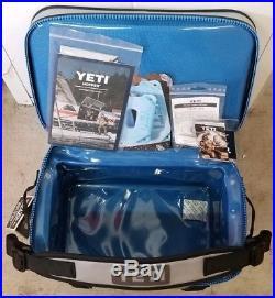 Brand New Yeti Hopper Flip 18 Leakproof Cooler Gray & Blue Zipper
