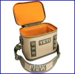 Brand New Yeti Hopper Flip 8 Field Tan Blaze Orange Soft Sided Cooler