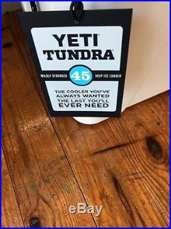 Brand New Yeti Tundra 45 White Hard-Side Cooler Free 2lb Yeti Ice