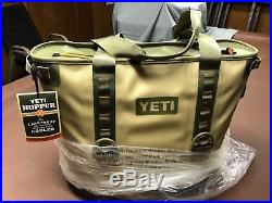 Brand New with Tags YETI Hopper 30 Tan/Orange/Blaze Soft Cooler Bag Ice Chest