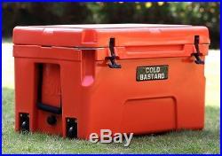 COLD BASTARD PRO SERIES ICE CHEST BOX COOLER YETI QUALITY Free s&h 50L ORANGE