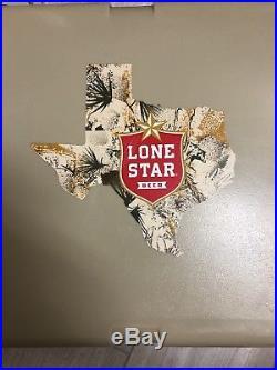 CUSTOM LONE STAR BEER TAN yeti cooler 45qt