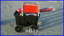 Can Crewser Cooler Caddy wheels beach rolling cooler for Yeti Igloo coleman etc