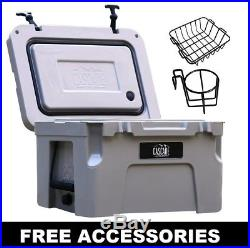 Cascade Coolers 25l Sand Roto Mold Ice Chest Yeti Quality Cooler Free 48 Us S/h