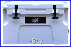 Cascade Coolers 25l White Pro Series Rotomold Ice Chest Yeti Quality Cooler