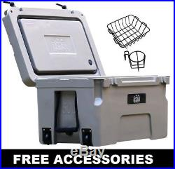 Cascade Coolers 50l Tan Roto Mold Ice Chest Yeti Quality Cooler Free 48 Us S/h