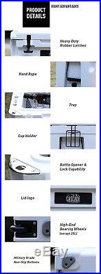Cascade Coolers 50l White Roto Mold Ice Chest Yeti Quality Cooler Free 48 Us S/h