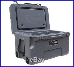 Cascade Coolers Charcoal 50l 50 Liter 53 Qt Rotomold Yeti Quality Ice Cooler