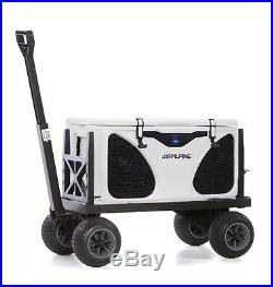 Cooler Cart Ice Chest Box Carrier Wagon with on Wheels Igloo Yeti Coleman Hauler