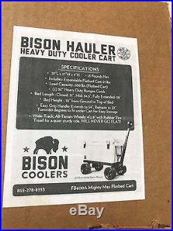 Cooler Cart Ice Chest Rolling Carrier on Wheels Igloo Yeti Coleman Hauler NIB