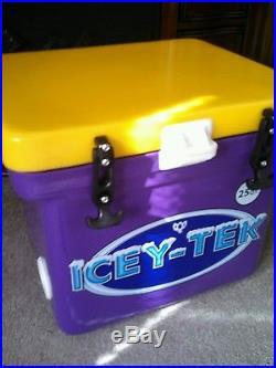 DROP PRICES! 25QT! Icey-Tek cooler PURPLE&GOLD L17.75W16.5H14.5 FREE SHIP