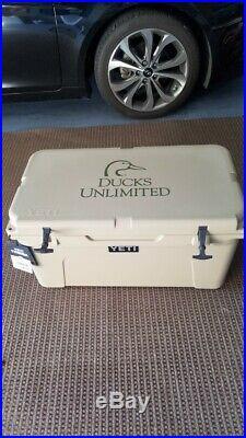Extremely Rare Ducks Unlimited Yeti Cooler Tundra 65 Quart Desert Tan YT65T