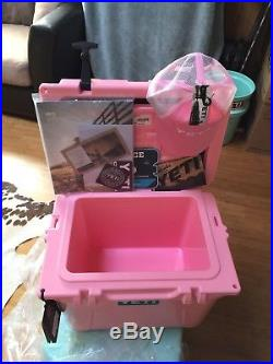 FREE SHIPPING Yeti Cooler Roadie 20 Pink Limited Edition New In Box