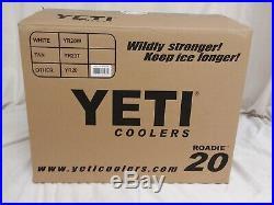 Genuine-Yeti 20 quart Roadie Cooler Ice Chest SEAFOAM-NEW