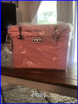 LIMITED EDITION Yeti Tundra 50 Pink Cooler Brand New! With Hat And Basket
