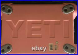 Limited Edition Pink Yeti 35qt Tundra Cooler Pink Hat & Dry Bin (Discontinued)
