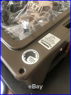 Limited Edition Yeti 65 Wetlands Ducks Unlimited Tundra Cooler and Camo Yeti Hat