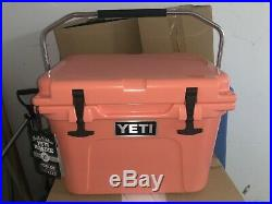 NEW Authentic YETI Roadie 20 Coral Cooler RARE Limited Edition Color Brand New