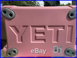 NEW Limited Edition Yeti Tundra 35 Pink Cooler + Hat + Dry Goods Basket