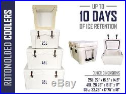 NEW RotoMolded Coolers Yeti, RTIC Style Cooler Ice Chest
