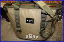 NEW YETI Hopper 30 Soft-Side 6.75 Gallon Waterproof Ice Cooler Olive & Tan