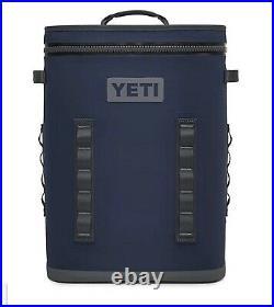 NEW YETI Hopper Backflip Backpack Cooler Navy Blue 24 SOFT COOLER