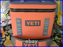 NEW YETI Hopper Flip 12 Coral Soft Cooler Discontinued Color-HTF