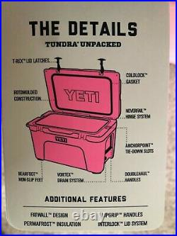 NEW YETI Tundra 35 Cooler LIMITED EDITION PINK with Hat
