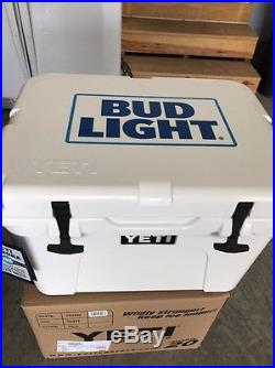 NEW YETI Tundra 35 Quart Hard Cooler Limited Edition Bud Light White
