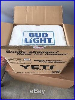 NEW YETI Tundra 35 Quart Hard Cooler Limited Edition Bud Light White