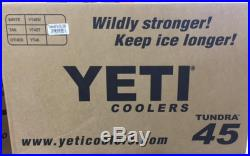 NEW! YETI Tundra 45 qt Cooler Tan Hard Side Ice Chest - YT45T