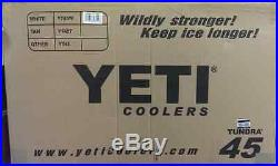 NEW! YETI Tundra 45 qt Cooler White Hard Side Ice Chest - YT45W