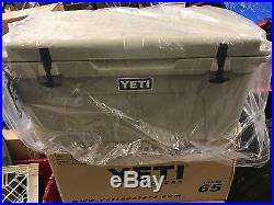 NEW Yeti Cooler Tundra 65 Tan Camp, Hunt, Fish, Tailgate. Party