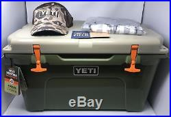 NEW Yeti Tundra 45 Quart High Country Cooler, Shirt, Hat Rare Limited Edition