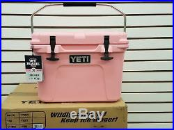 NIB Pink Yeti Roadie 20 Qt Cooler Limited Edition Color WithFree Yeti Hat